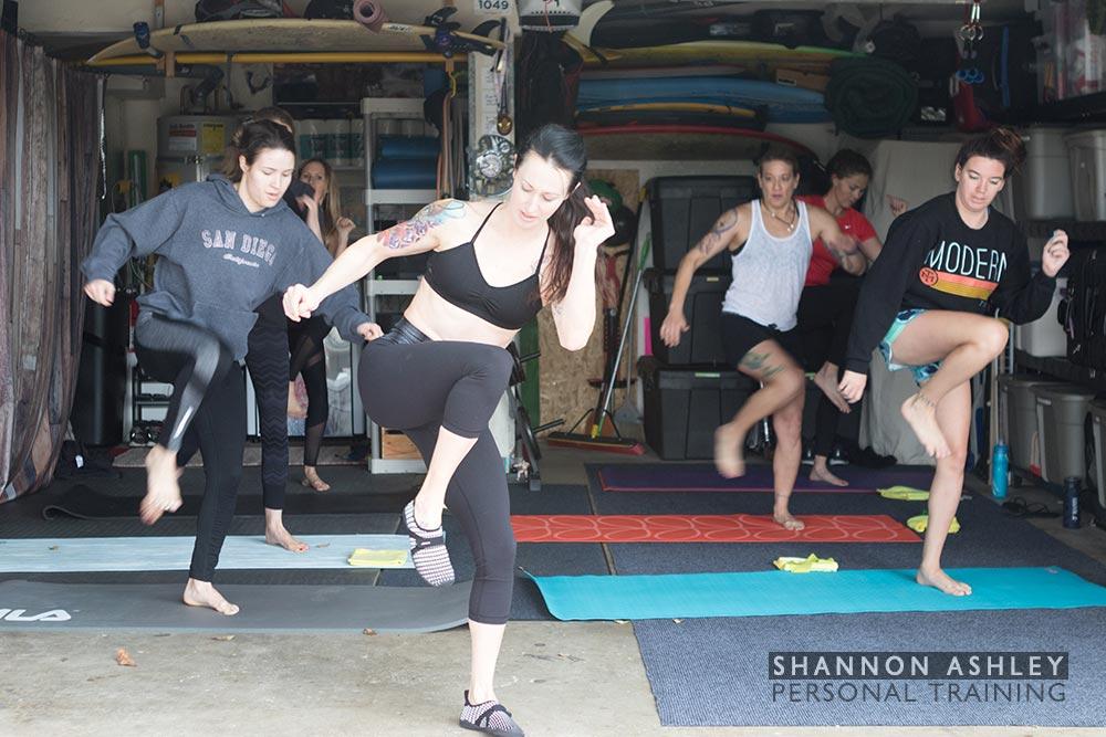 Women s group fitness class in encinitas